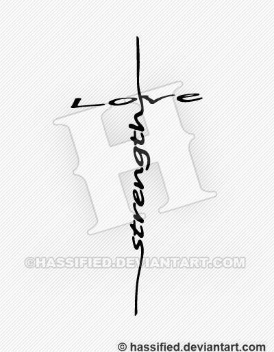Love Strength Cross - printable, vector, svg, art