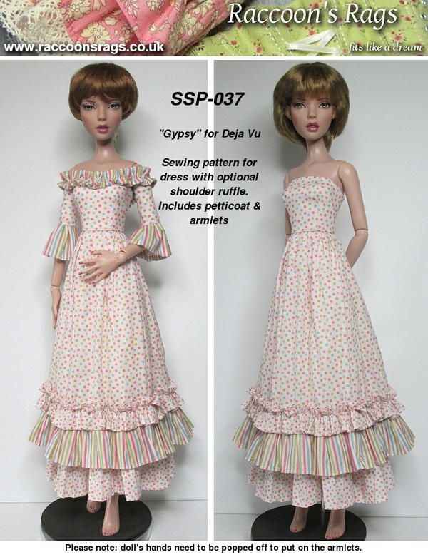 "SSP-037: ""Gypsy"" sewing pattern for Tonner Deja Vu"