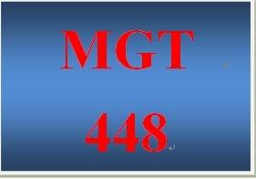 MGT 448 Week 4 Case Study