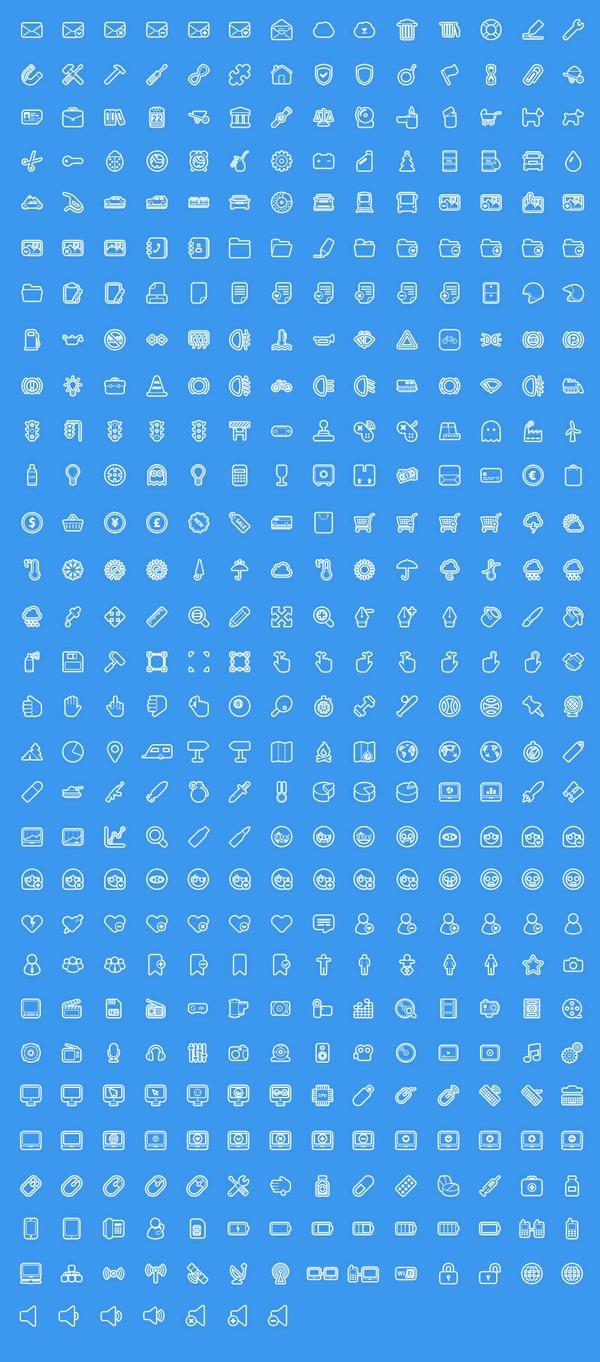 400+ line icons