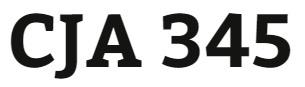 CJA 345 Week 3 Research Proposal Part I
