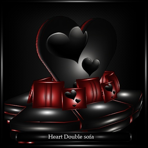 Heart Double Sofa Mesh