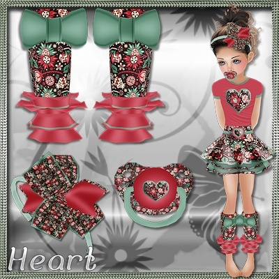 Kids Heart Bundle PSD and PNGs