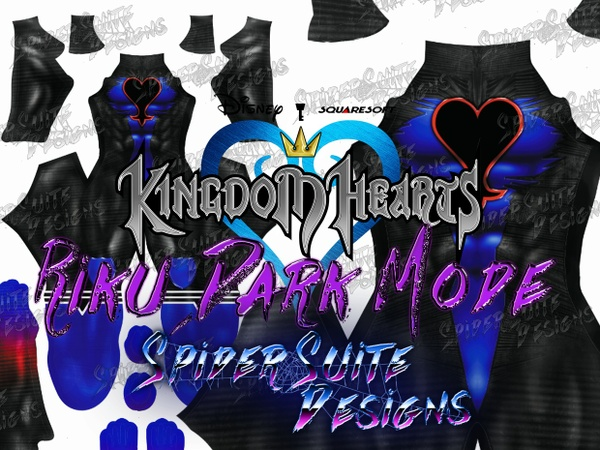 Kingdom Hearts Riku Dark Mode 2017 Pattern