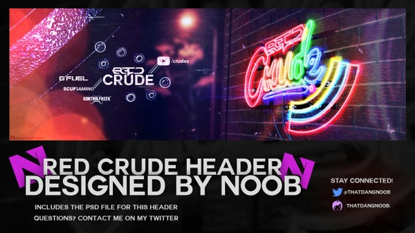 Red Crude Header PSD