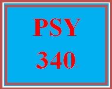 PSY 340 Week 1 Week One Tutorial and Quiz
