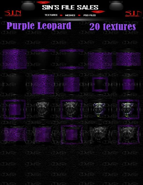 Purple Leopard Texture pack