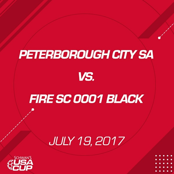Girls U17 Gold - July 19, 2017 - Peterborough City SA 2000 vs Fire SC 0001 Black