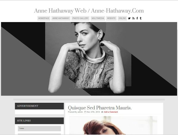 Wordpress Theme - 01