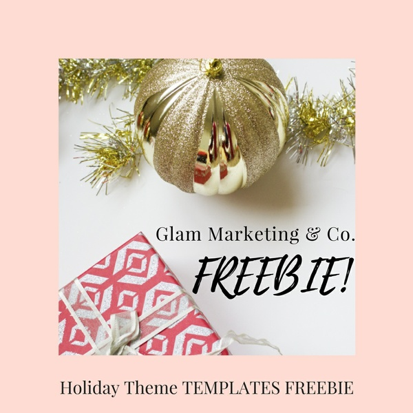Holiday Theme Free Social Media Templates