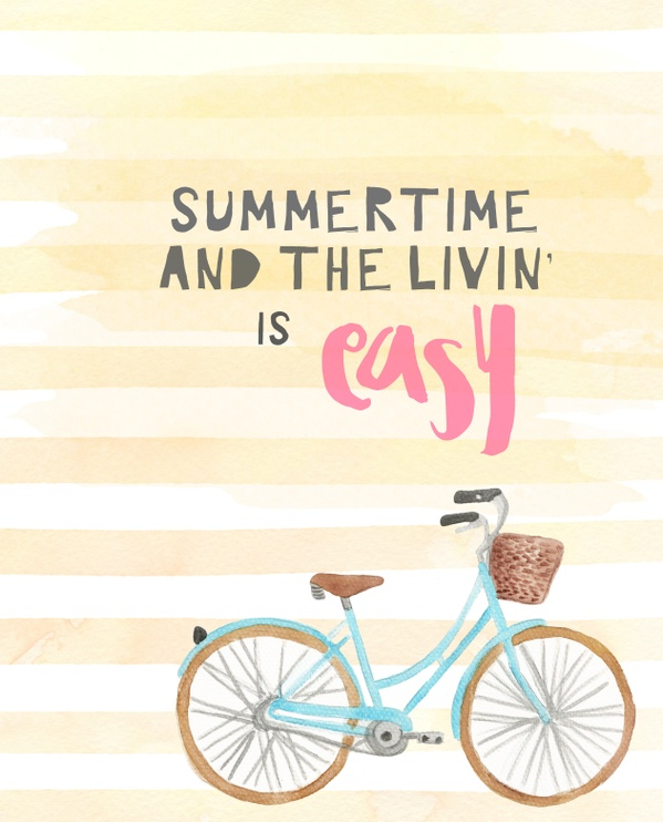 Summertime and the Livin' is easy-8x10 digital download