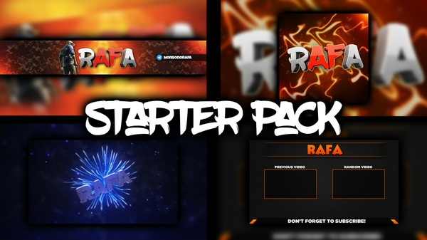 [STARTER PACK] YouTube Banner, Logo, Intro, Outro