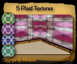 5 Plaid Room Textures