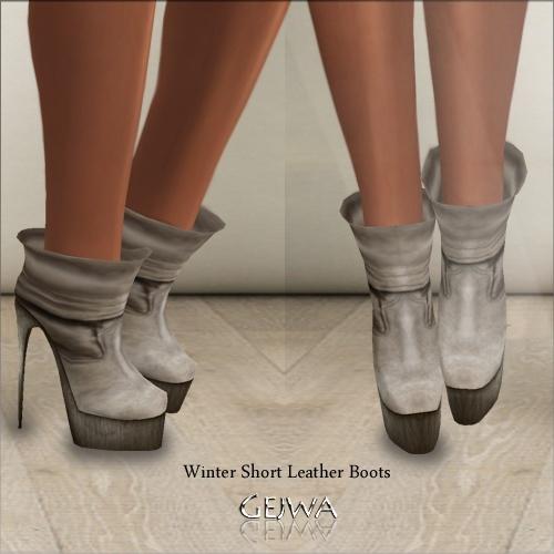Winter Short Leather Boots IMVU MESH & TEXTURE