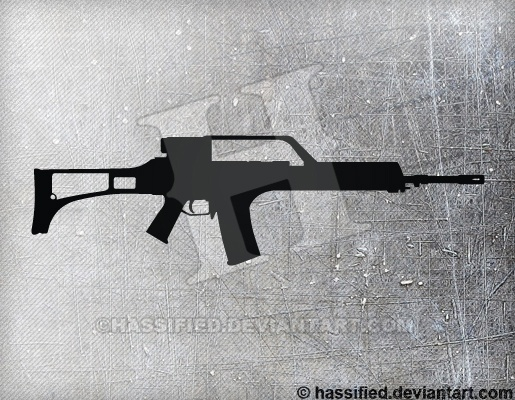 HK G36 - printable, vector, svg, art