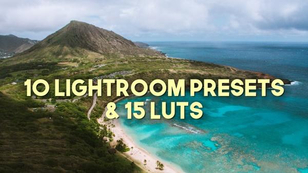 FVS 15 Travel LUTs + 10 Lightroom Presets COMBO