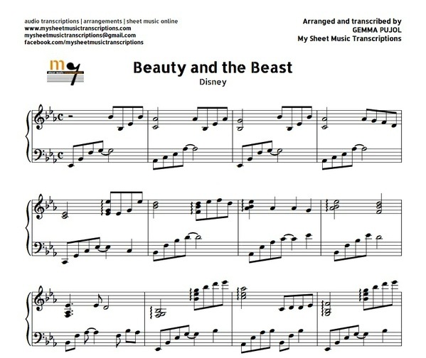 Beauty and The Beast (Disney) Sheet music (.pdf)