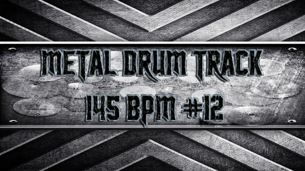 Metal Drum Track 145 BPM #12
