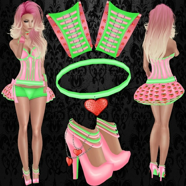 Strawberry Pvc Set - Exclusive Files - W/Resell Rights / PNG.