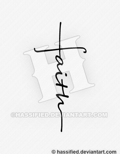 Faith Cross - printable, vector, svg, art
