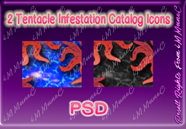 2 Tentacle Infestation Catalog Icons PSD (Halloween)