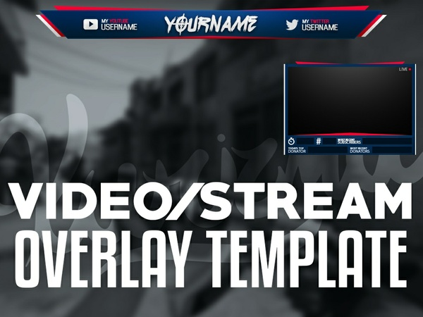 Video/Stream Overlay Template