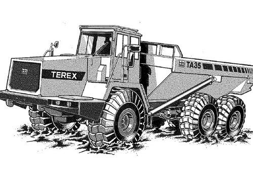 Terex TA35 & TA40 Articulated Dumptruck Service Repair Manual