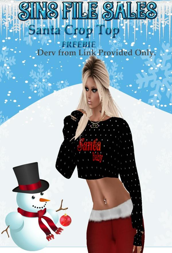 Freebie:Santa Crop Top