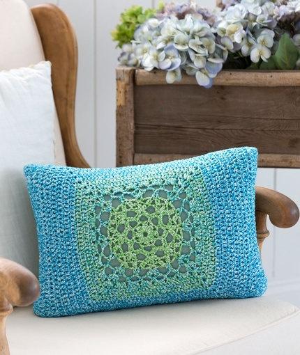Mod Granny Square Pillow