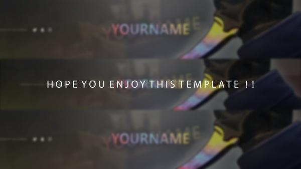 CS:GO YouTube Banner Template [2016] #2