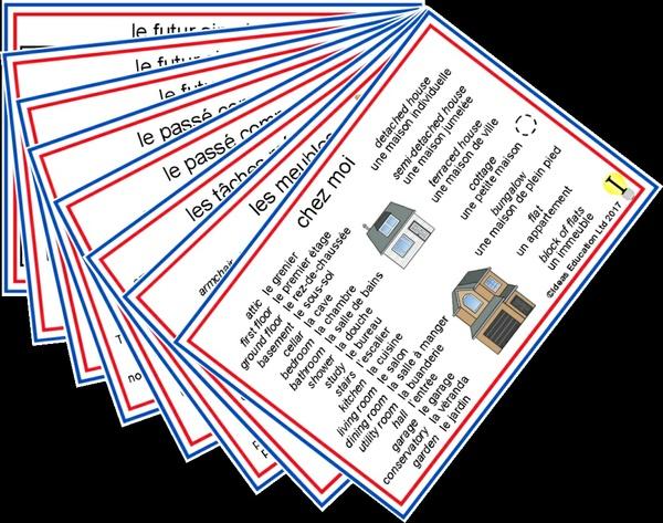 French Pocket Cards, set 5