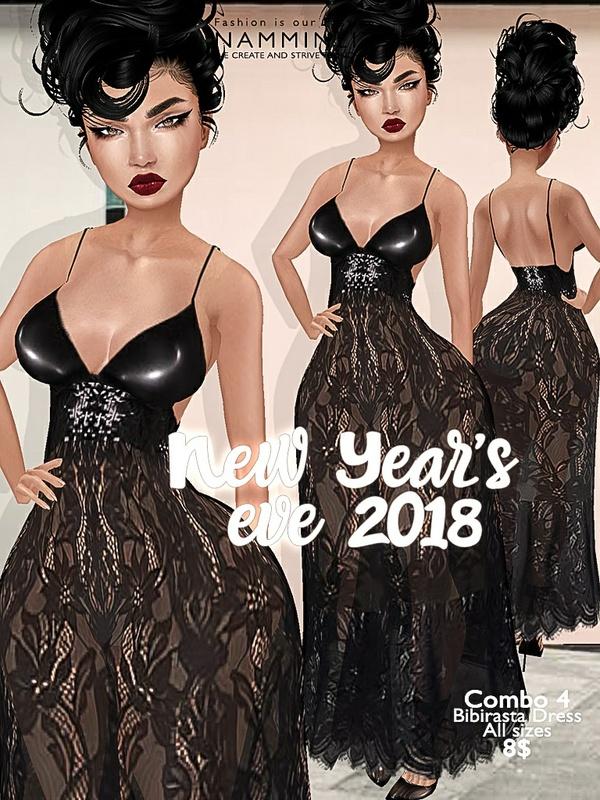 New Year's eve combo4 Bibirasta dress all sizes imvu JPG texture NAMMINLIZ