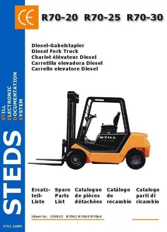 Still Diesel Fork Truck R70-20, R70-25, R70-30: DFG R7062, R7063, R7064 Parts Manual