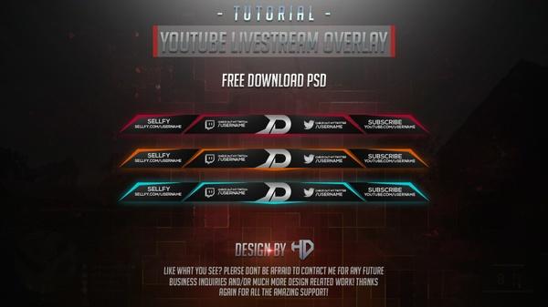 Template YouTube Livestream Overlay By Houssem Designer