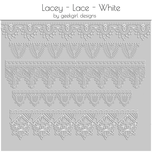 Lacey Lace White by geekgirl designs