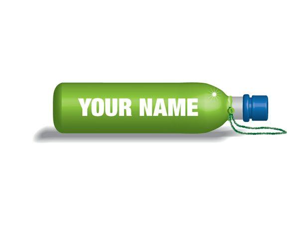 Gym bottle logo