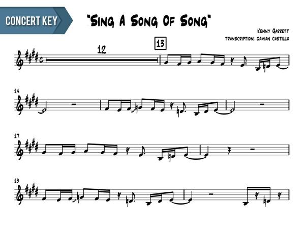 "Kenny Garrett - ""Sing A Song Of Song"" - Concert Key"