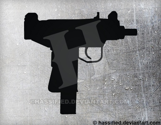 Uzi Pistol - printable, vector, svg, art