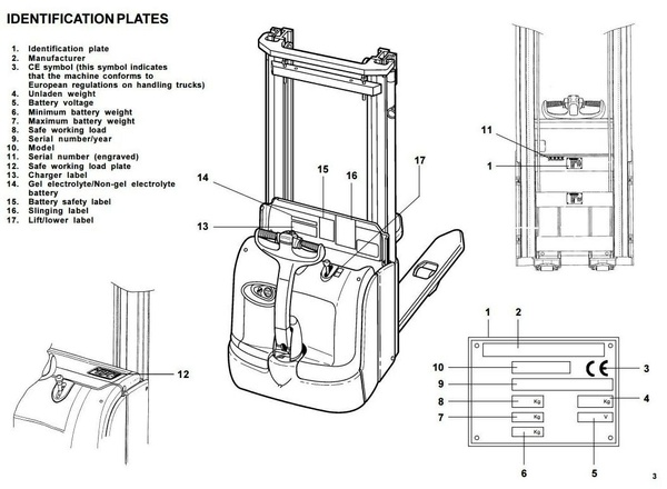 Linde Pallet Stacker Type 372: L14, L16 SN before M02999 Operating Instructions (User Manual)