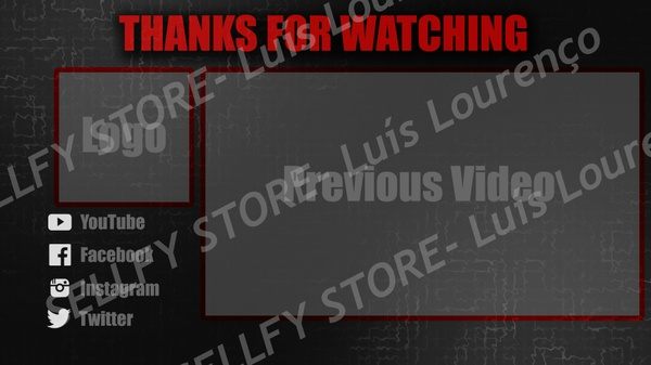 Outro Template for YouTube