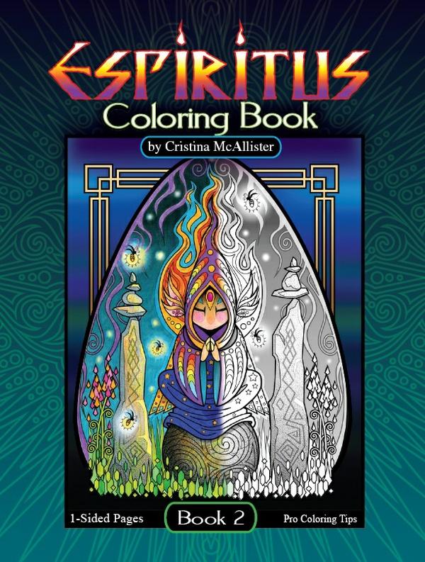 Espiritus Coloring Book, Book 2, by Cristina McAllister