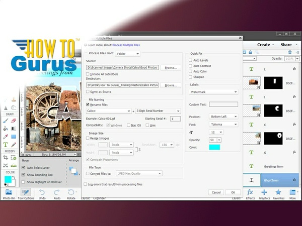 How to Batch Rename Pictures in Photoshop Elements 11 12 13 14 Tutorial