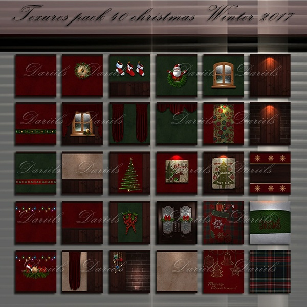 Textures pack 40 christmas Winter
