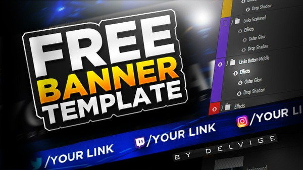 FREE YouTube Banner/Channel Art Template By Delvige
