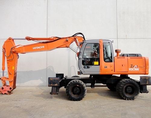 Hitachi Zaxis 180W Wheeled Excavator Workshop Manual Download