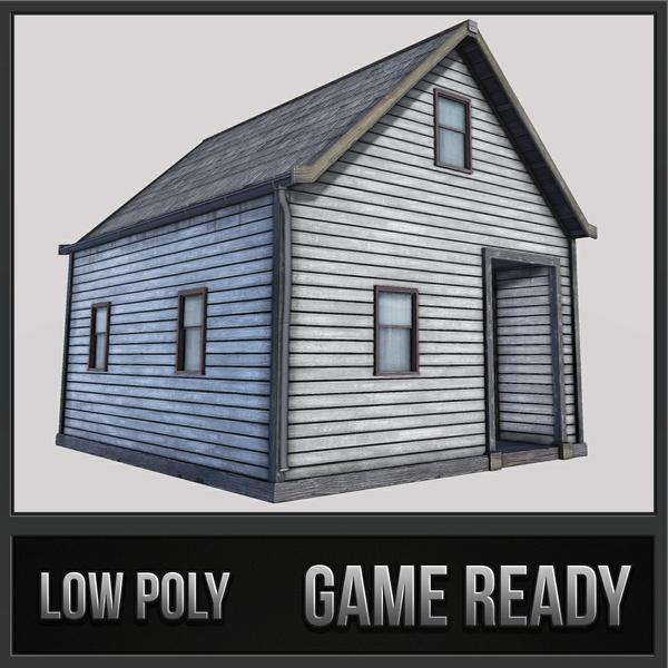 Boston House 03 | 3D Low Poly Model