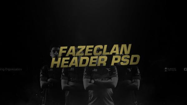 FaZe Clan E-Sports Header PSD
