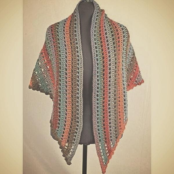 Crochet Self-Striping Shawl