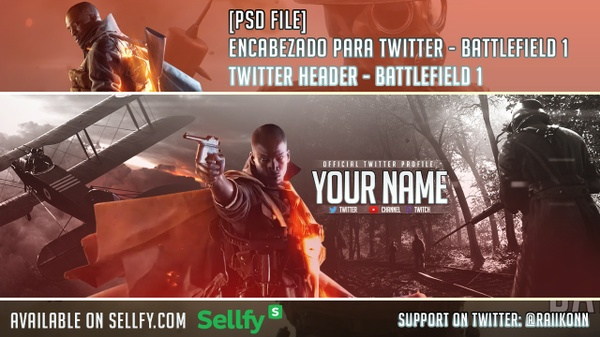 Battlefield 1 - [PSD] Twitter Header / Encabezado