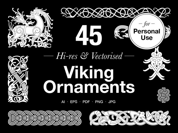 Viking Ornaments – Personal use
